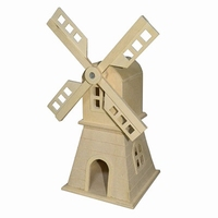 Vogelhuisje molen rond dak (4015)