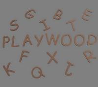 Mdf letters blank; Lengte 6 CM