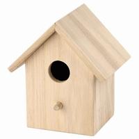 Vogelhuisje vierkant met afneembaar dakje (5247)