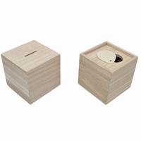 Spaarpot vierkant met uitschuifbare bodem (6320)