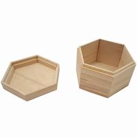 Kist zeshoek met los deksel (5170)