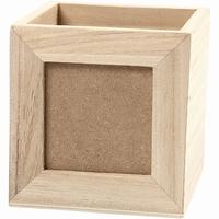 Pennenbakje vierkant met uitneembare voorkant (7380)