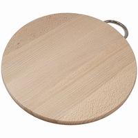 Snijplank beuken rond met metalen handgreep