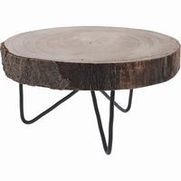 Decoratie boomschijf tafeltje paulownia (310656)