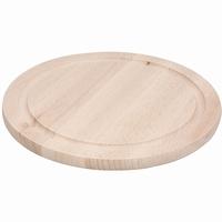 Snijplank beuken rond met saprand; 24 CM
